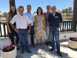 Vlnr: Dorine Kea, Toon van Kessel, Marc Balemans, Jacqueline Laumans, Toon Hulshof en Henk Jolink